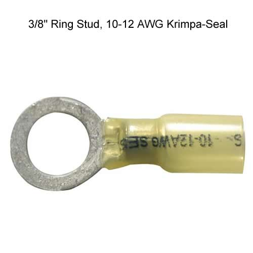 three eights inch ring stud krimpa-seal butt splice 10-12 awg