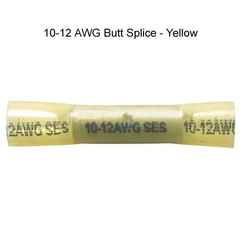krimpa-seal butt splice 10-12 awg in yellow