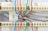 lacing connectors in block
