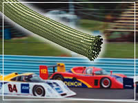 braided sleeving and race cars