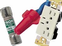 Electrical fuses, wires, outlets