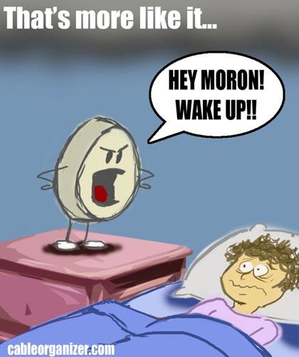 loud alarm wakes people up