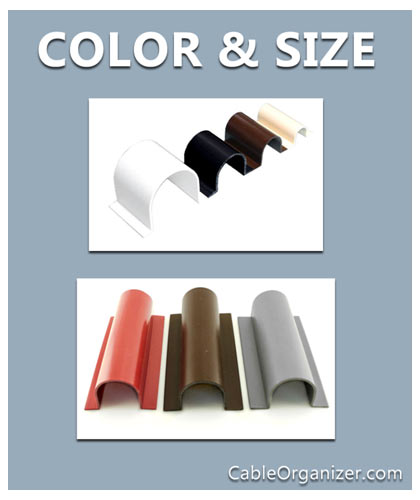 different colors and sizes of wire guards