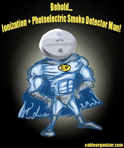 combination ionization and photoelectric alarm man