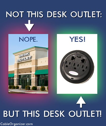 Two Types of Desk Outlets