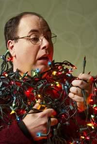 Organizing holiday lights