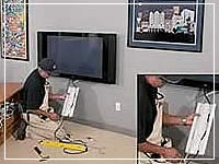 installing a Wiring Solution to hide tv cables