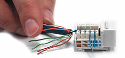check which configuration for the wires into the jack