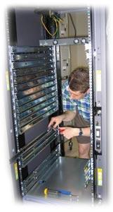 setting up server rack