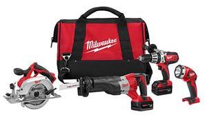 Milwaukee Tools M18 4 Tool Combo Kit