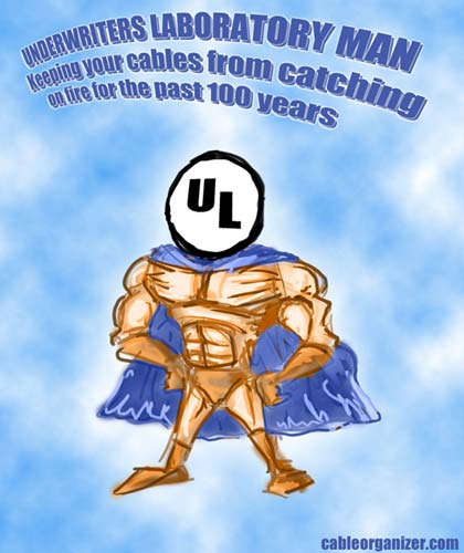 Underwriters Laboratory Man: keeping your cables from catching on fire for the past 100 years