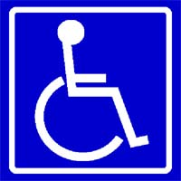 Wheel chair ADA sign