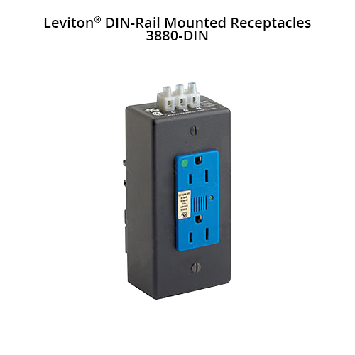 Leviton DIN-Rail Mounted Receptacles