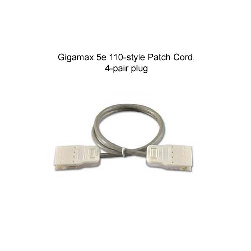 leviton gigamax cat5e 110 style patch cord with 4 pair plug icon