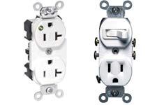 Leviton duplex receptacles