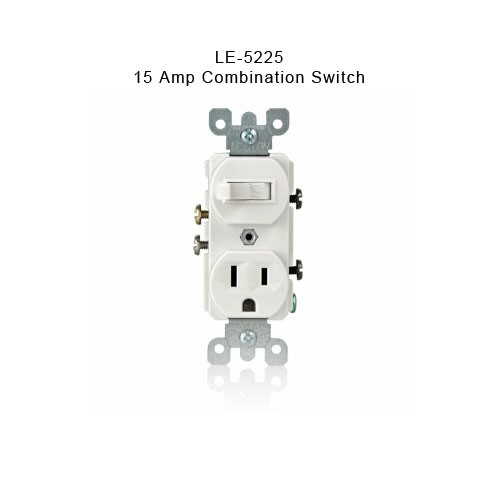 LE-5225 15 amp combination switch