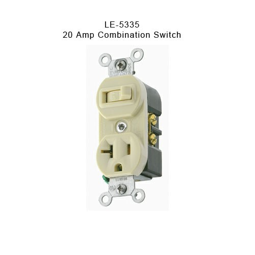 LE-5335 20 amp combination switch
