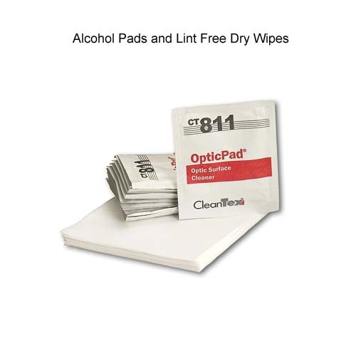 leviton fiber optic alcohol pads and lint free dry wipes icon