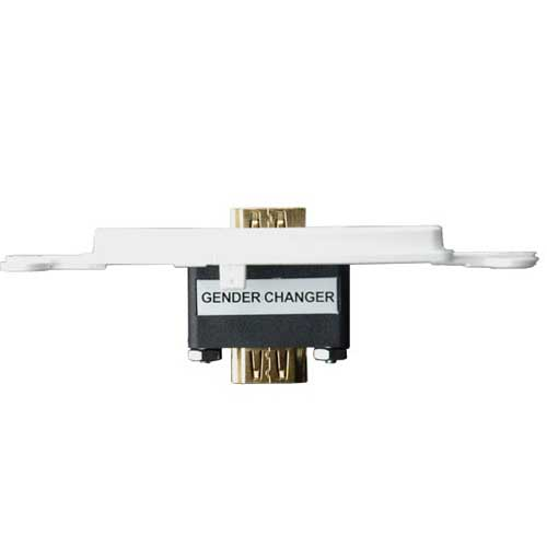 top view of leviton decora high definition video gender changer icon