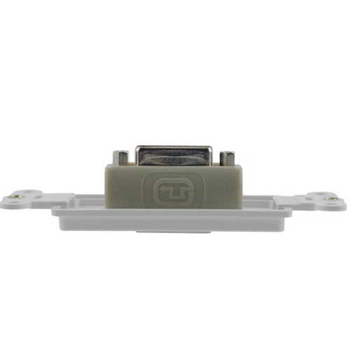top view of leviton decora high definition video dvi-i connector insert icon