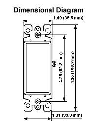 dimensional diagram of Decora plus insert