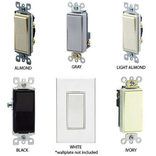 Leviton DECORA® Plus 15 AMP Designer Style Switches