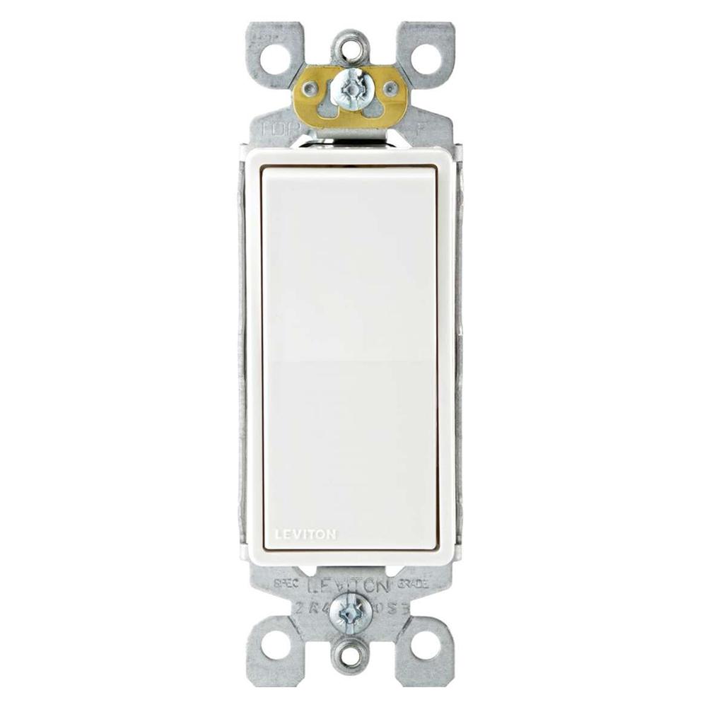 Leviton DECORA® 15 Amp AC Quiet Rocker Single Pole and Three Way Switches