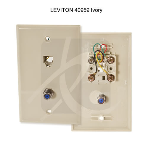 one-piece TV/Phone Combination Jack & Wallplate - icon