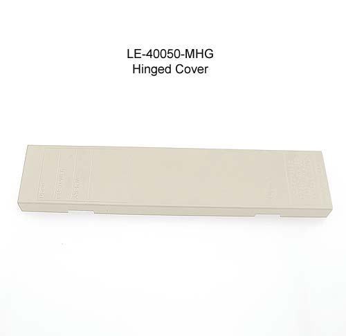 top view of leviton hinged cover for m blocks and demarc blocks in white icon