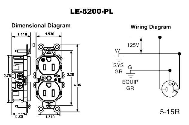 [SCHEMATICS_49CH]  Leviton Decora Hospital Grade Duplex Receptacles - Cableorganizer.com | Hospital Grade Wiring Diagram |  | CableOrganizer.com