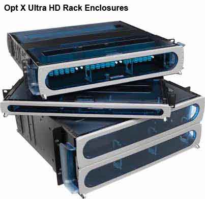 leviton opt-x ultra high density fiber rack enclosures in various sizes icon