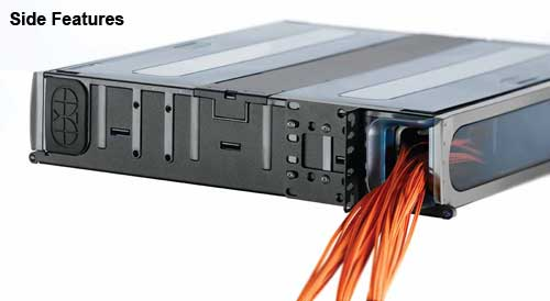 side view features of leviton opt-x ultra high density fiber rack enclosure icon