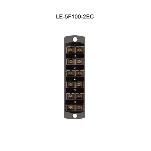 Leviton® Opt-X Fiber Optic Adapter Plates LE-5F100-2EC