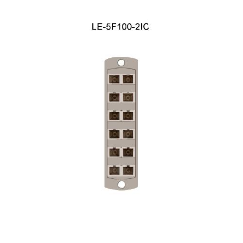 Leviton® Opt-X Fiber Optic Adapter Plates LE-5F100-2IC