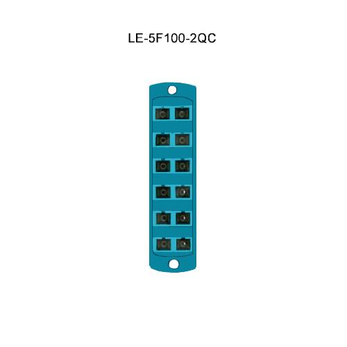 Leviton® Opt-X Fiber Optic Adapter Plates LE-5F100-2QC
