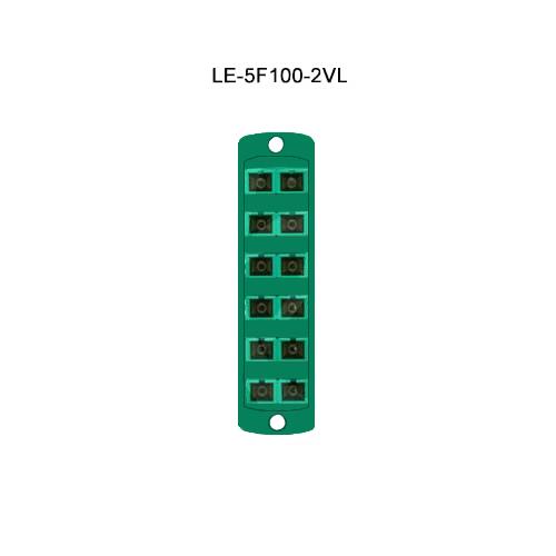 Leviton® Opt-X Fiber Optic Adapter Plates LE-5F100-2VL