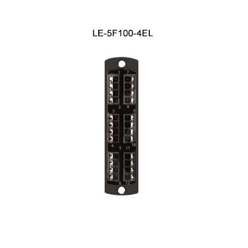 Leviton® Opt-X Fiber Optic Adapter Plates LE-5F100-4EL