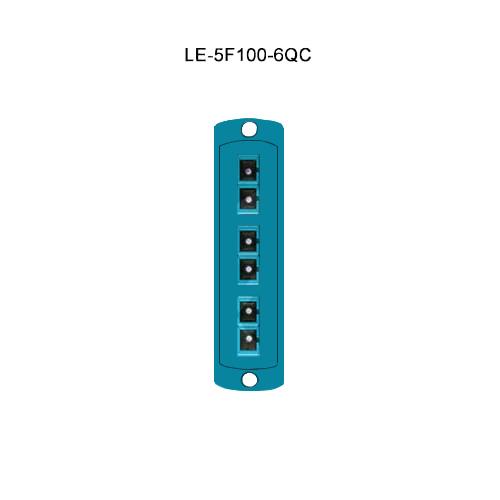Leviton® Opt-X Fiber Optic Adapter Plates LE-5F100-6QC