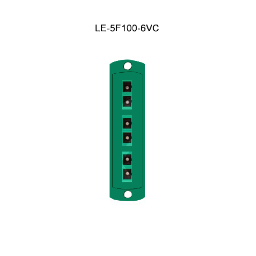 Leviton® Opt-X Fiber Optic Adapter Plates LE-5F100-6VC