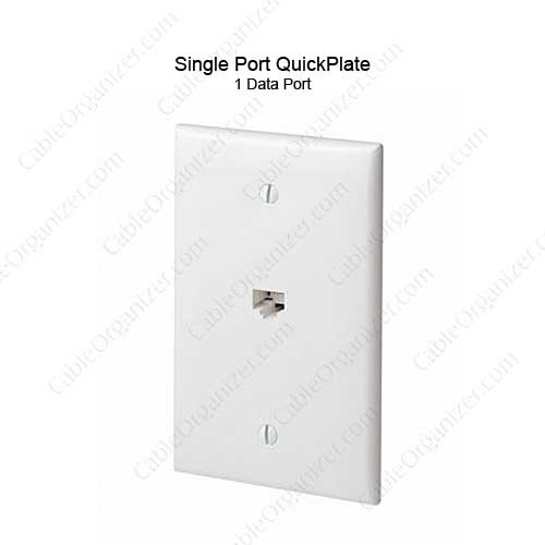 Leviton QuickPlate 1 Port Wall Plate - icon