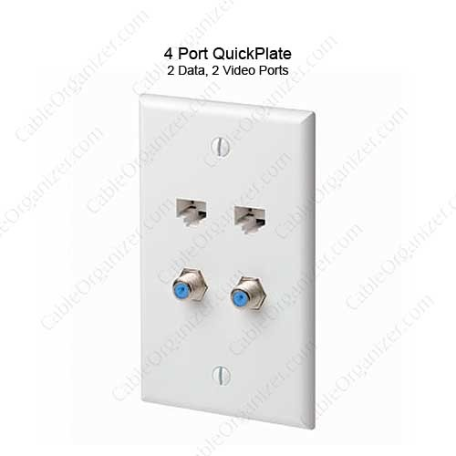 Leviton QuickPlate 4 Port Wall Plate  - icon