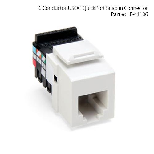Leviton QuickPort Snap-In Connectors 41106 - icon