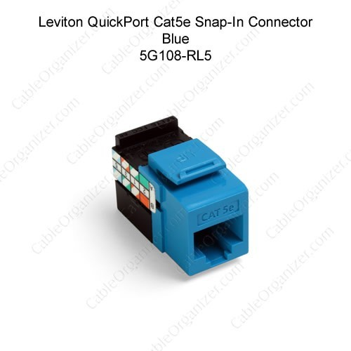 CAT6 RJ45 Keystone Jack Tool Less Network Snap-In Insert For Wall Plate Blue