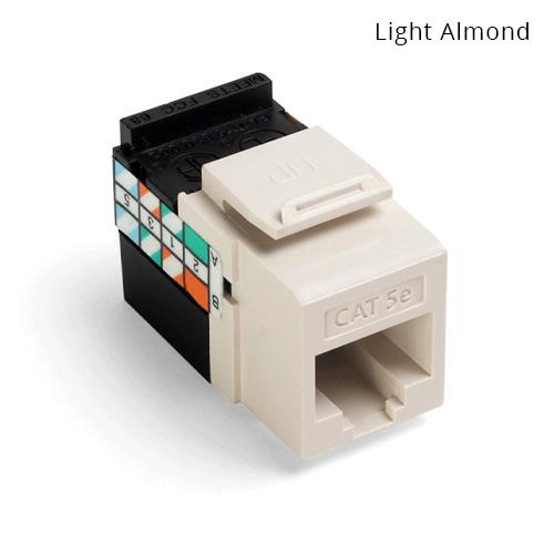 Leviton QuickPort Category 5e Gigamax almond - icon