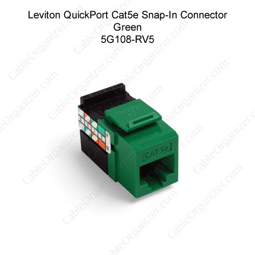 Leviton QuickPort Category 5e Gigamax Green - icon