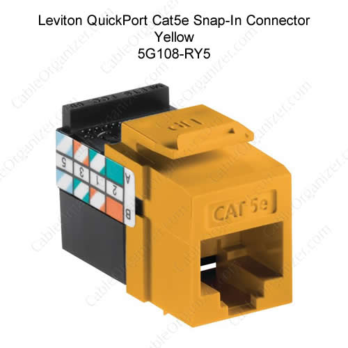 Leviton QuickPort Category 5e Gigamax Yellow - icon