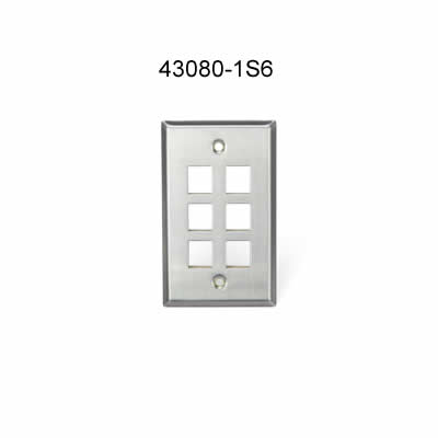 leviton stainless steel six port wall plate icon
