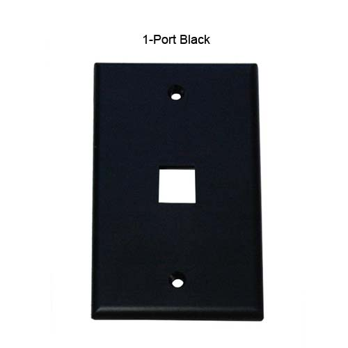 one port leviton quickport wall plate in almond icon