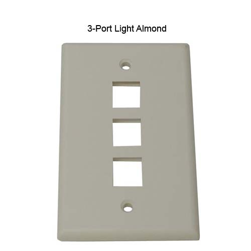 two port leviton quickport wall plate in white icon