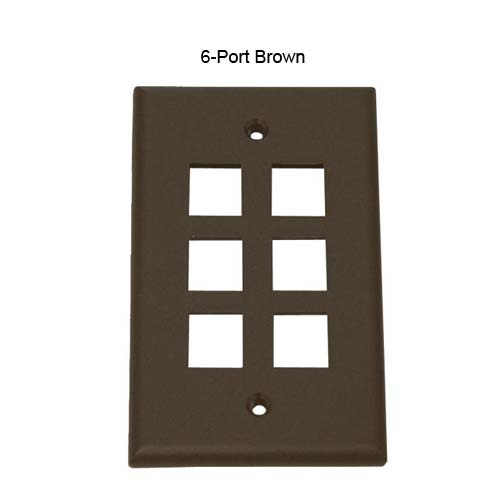 four port leviton quickport wall plate in ivory icon
